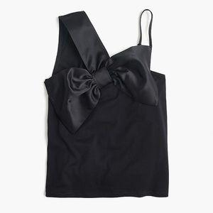 J. Crew Asymmetrical bow top